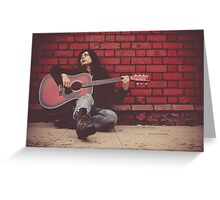 Homeless and alone Greeting Card