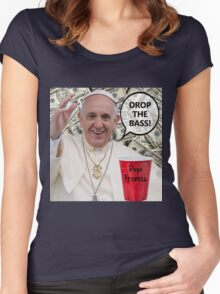 Dope Francis - the Dope Pope Women's Fitted Scoop T-Shirt