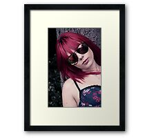 Red Haired Rage Framed Print