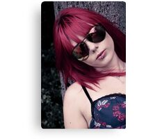 Red Haired Rage Canvas Print