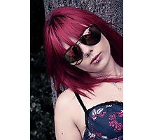 Red Haired Rage Photographic Print