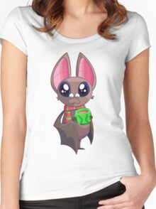 Uppy the Hipster Bat Women's Fitted Scoop T-Shirt