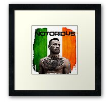 """The Notorious"" Conor McGregor UFC Framed Print"