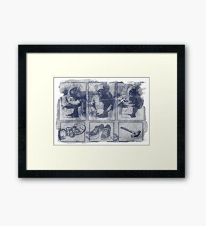 Vigilante Blueprint Framed Print