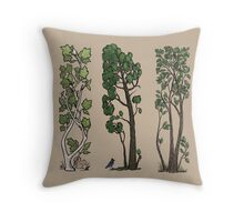 Five Trees/Summer Throw Pillow