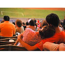 Romance At Baseball Game Photographic Print