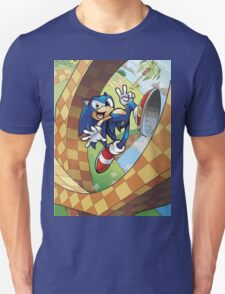 sonic on the run Unisex T-Shirt