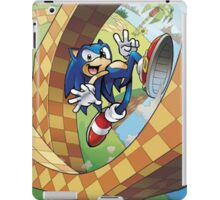 sonic on the run iPad Case/Skin