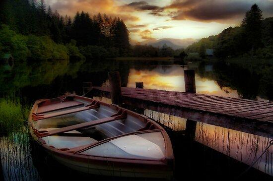 Summer's Sunset,Loch Ard by Aj Finan