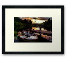 Summer's Sunset,Loch Ard Framed Print