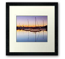 River Dawn Framed Print