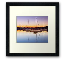 River Dawn Framed Print