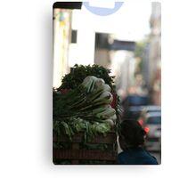 Vegetable shopping Canvas Print