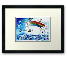 When its Dark look for Stars Framed Print