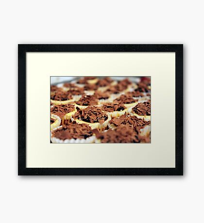 Mini Chocolate Cheesecakes Framed Print