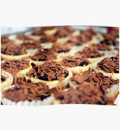 Mini Chocolate Cheesecakes Poster