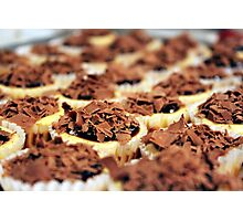 Mini Chocolate Cheesecakes Photographic Print