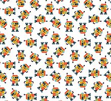 Happy Robot Pattern by daisy-beatrice