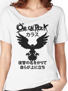 Karasu (カラス) [Black] Women's Relaxed Fit T-Shirt