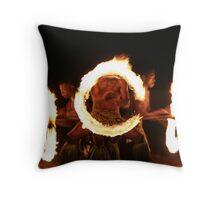 Fire dancers, Fiji Throw Pillow