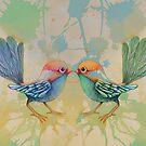 little love birds blue by © Cassidy (Karin) Taylor