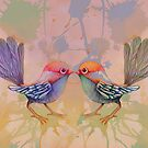 little love birds pink by © Karin  Taylor