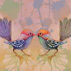 little love birds pink by Karin  Taylor