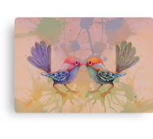 little love birds pink Canvas Print