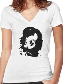 Viva la Pony! Women's Fitted V-Neck T-Shirt