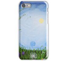 """Moonlit night"" poppy poppies wall art Original print painting decor wall art starry night  iPhone Case/Skin"