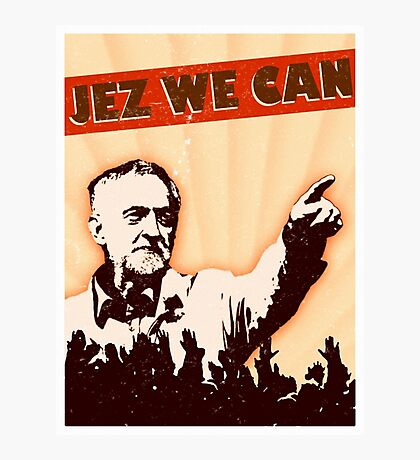 Jez We Can - Jeremy Corbyn Photographic Print
