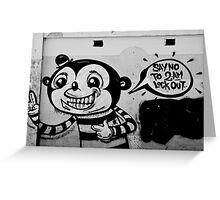 A Lost Message - Graffiti Greeting Card