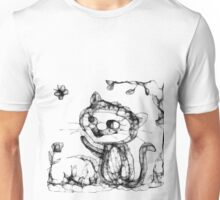 kitty playing wid butterfly Unisex T-Shirt