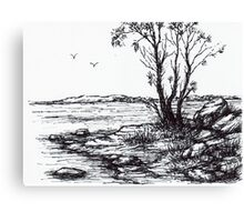 Lakeside Sketch Canvas Print