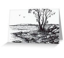 Lakeside Sketch Greeting Card