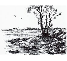 Lakeside Sketch Photographic Print