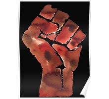 Black Power Fist Poster