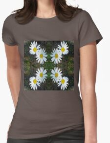 White Daisy Xspot Womens Fitted T-Shirt
