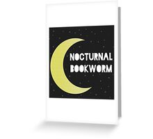 Nocturnal Bookworm Greeting Card