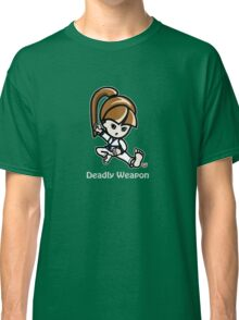 Martial Arts/Karate Girl - Deadly Weapon (gray font) Classic T-Shirt