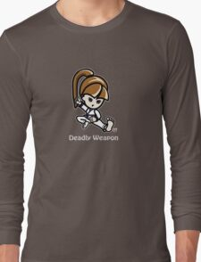 Martial Arts/Karate Girl - Deadly Weapon (gray font) T-Shirt