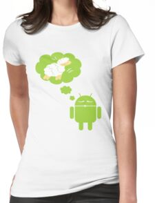DROID Dreaming of an Electric Sheep Womens Fitted T-Shirt