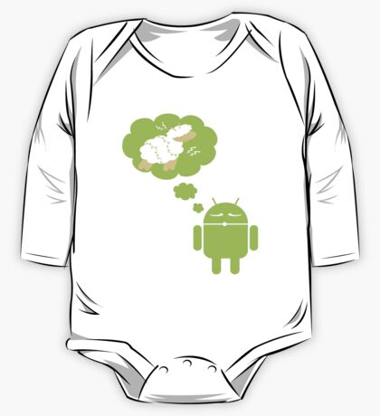 DROID Dreaming of an Electric Sheep (iron-on look) One Piece - Long Sleeve