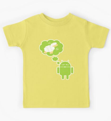 DROID Dreaming of an Electric Sheep (iron-on look) Kids Tee