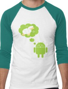 DROID Dreaming of an Electric Sheep (iron-on look) Men's Baseball ¾ T-Shirt