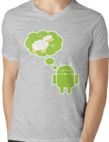 DROID Dreaming of an Electric Sheep (iron-on look) Mens V-Neck T-Shirt