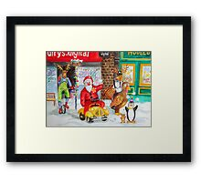 Santa tours Bognor - Clown Convention Framed Print