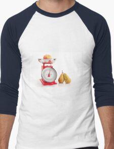 Kitchen red weight scale utensil Men's Baseball ¾ T-Shirt