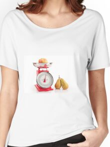 Kitchen red weight scale utensil Women's Relaxed Fit T-Shirt