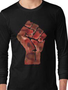 Black Power Fist Long Sleeve T-Shirt